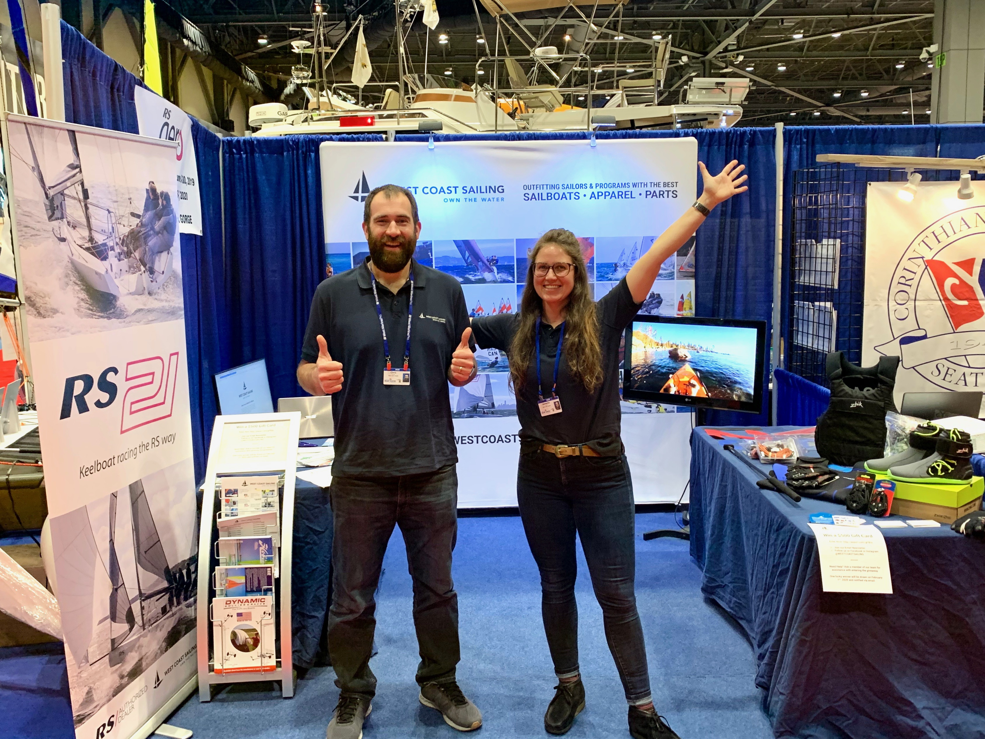 Chris and Jeanette at the Seattle Boat Show
